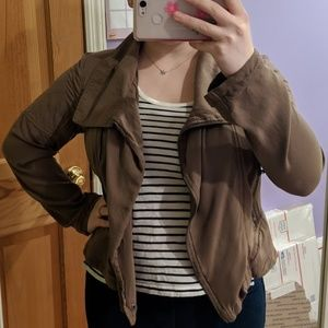 New York & Co Brown Jacket Moto Style